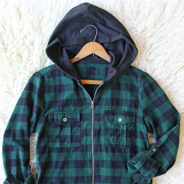 Cinder & Plaid Hooded Top: Featured Product Image
