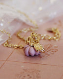 Cinderella Necklace in Pink: Alternate View #1