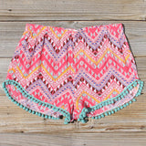 Cloud Break Native Shorts in Pink: Alternate View #1