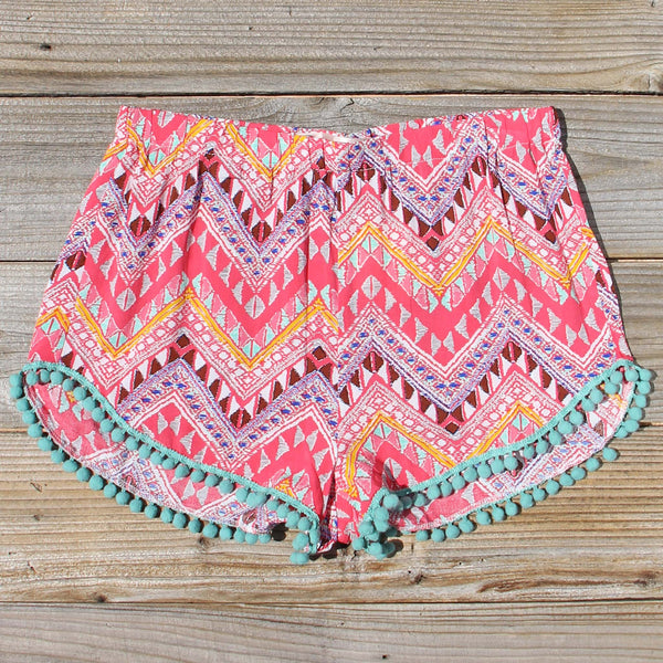 Cloud Break Native Shorts in Pink: Featured Product Image