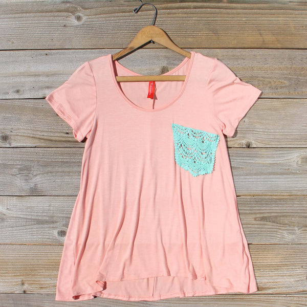Cloudy Valley Tee in Peach: Featured Product Image
