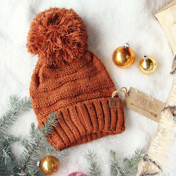 Confetti Snow Cozy Beanie in Rust: Featured Product Image