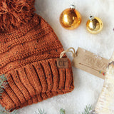 Confetti Snow Cozy Beanie in Rust: Alternate View #2
