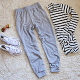 Cool Girl Joggers in Gray: Alternate View #5