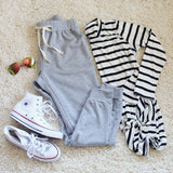 Cool Girl Joggers in Gray: Alternate View #1
