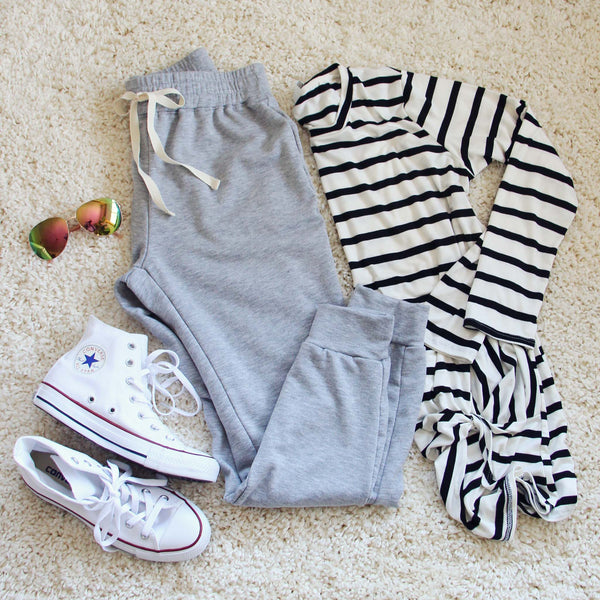 Cool Girl Joggers in Gray: Featured Product Image