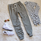 Cool Girl Joggers in Sage: Alternate View #2