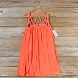 The Cage Dress in Orange: Alternate View #1