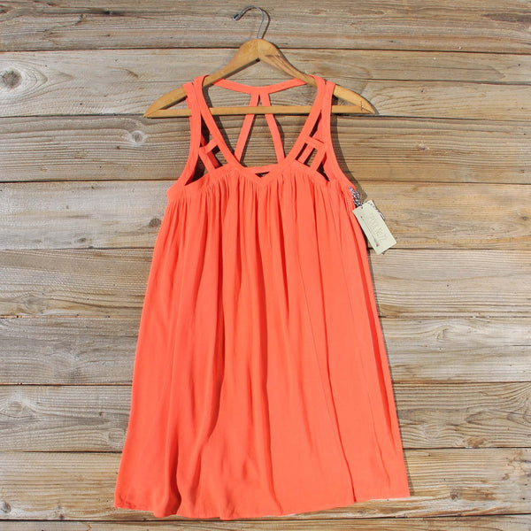 The Cage Dress in Orange: Featured Product Image