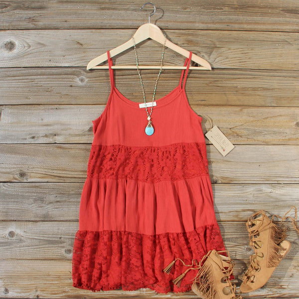 Coyote Sands Dress in Rust: Featured Product Image
