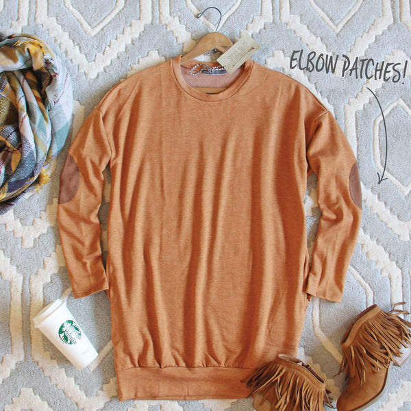 Cozy Sweatshirt Dress in Pumpkin: Featured Product Image