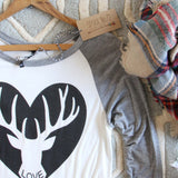 Cozy Antler Tee: Alternate View #2