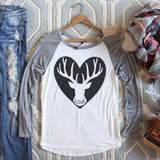 Cozy Antler Tee: Alternate View #1