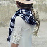 Cozy Buffalo Plaid Scarf: Alternate View #1