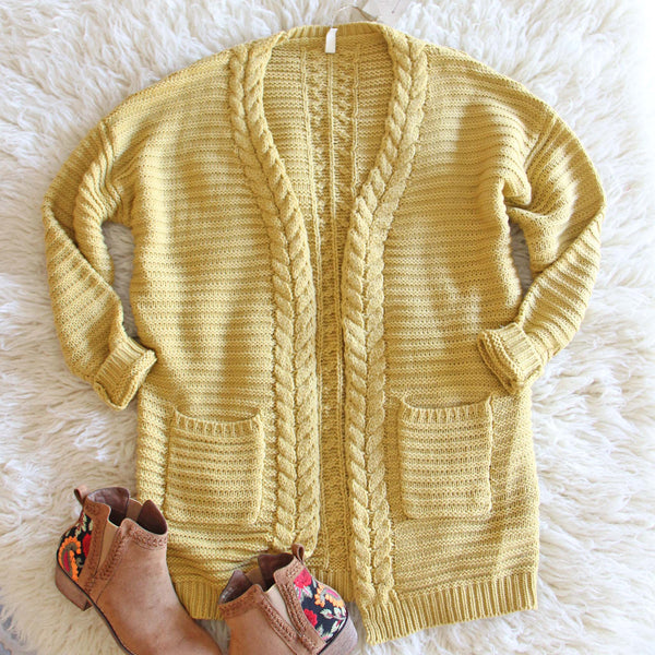 Cozy Bundle Sweater in Mustard: Featured Product Image