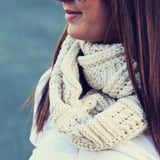 Cozy Cable Knit Scarf: Alternate View #2