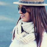 Cozy Cable Knit Scarf: Alternate View #1