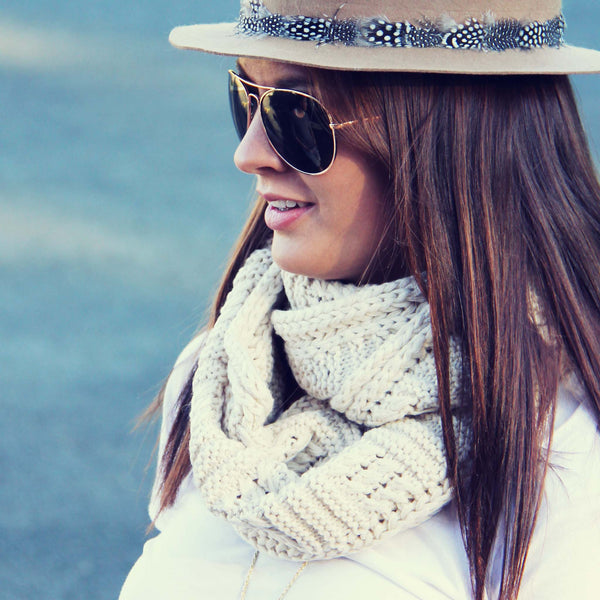 Cozy Cable Knit Scarf: Featured Product Image