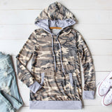 Cozy Camo Hoodie: Alternate View #1