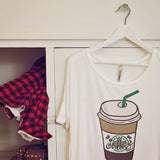 Cozy Coffee Tee: Alternate View #2