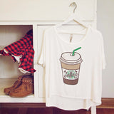 Cozy Coffee Tee: Alternate View #1