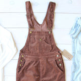 Cozy Corduroy Overalls in Rust: Alternate View #2