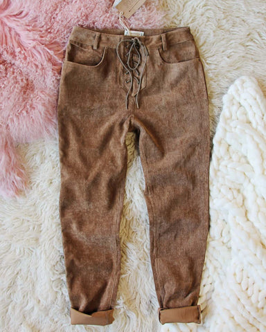 Corduroy Cozy Lace-Up Pants