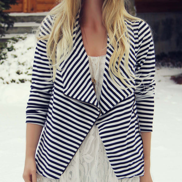 Cozy Saturday Stripe Jacket: Featured Product Image