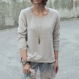 Cozy Oatmeal Sweatshirt: Alternate View #3