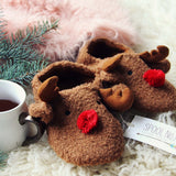 Cozy Reindeer Slippers: Alternate View #3
