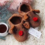 Cozy Reindeer Slippers: Alternate View #2
