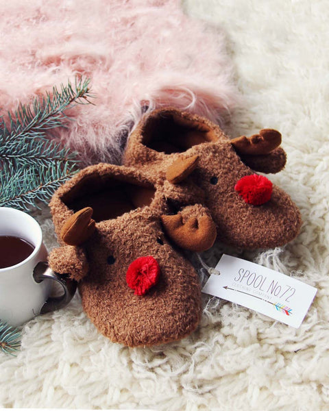 Cozy Reindeer Slippers: Featured Product Image