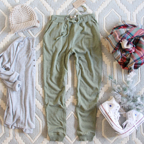 Cozy Sage Joggers: Featured Product Image
