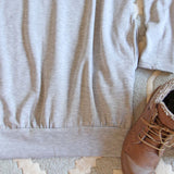 Cozy Sweatshirt Dress in Gray: Alternate View #3