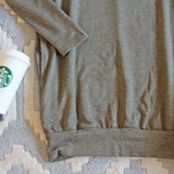 Cozy Sweatshirt Dress in Olive: Alternate View #3
