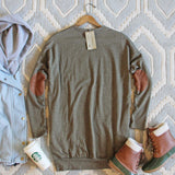 Cozy Sweatshirt Dress in Olive: Alternate View #4