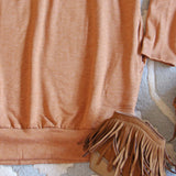 Cozy Sweatshirt Dress in Pumpkin: Alternate View #3