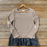 Cozy Tartan Sweatshirt: Alternate View #1