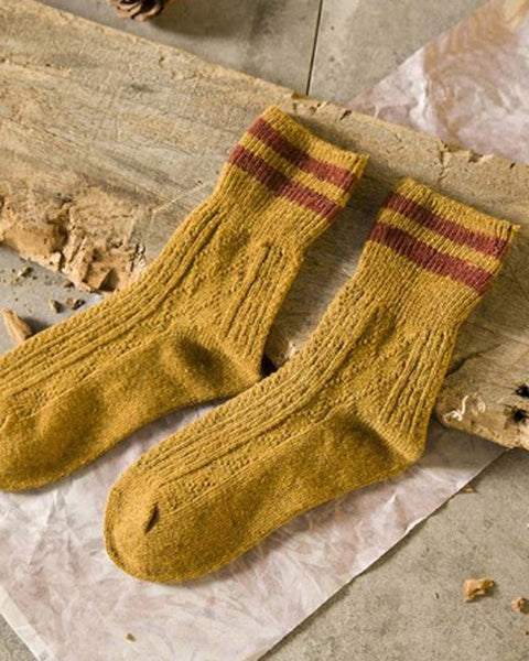 Cozy Hiker Socks in Mustard: Featured Product Image