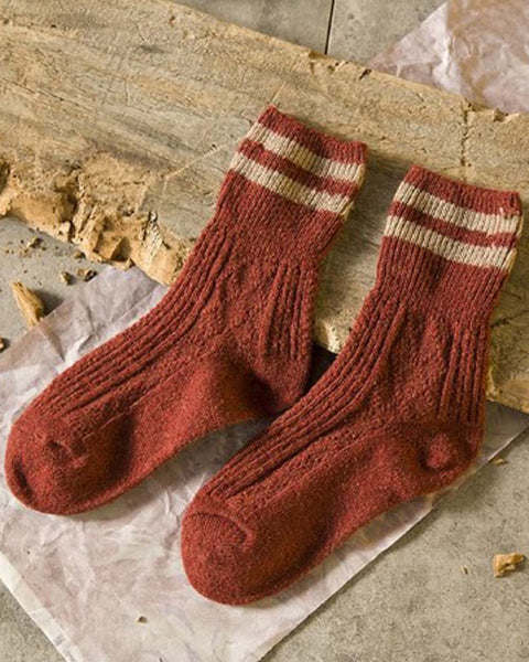 Cozy Hiker Socks in Rust: Featured Product Image