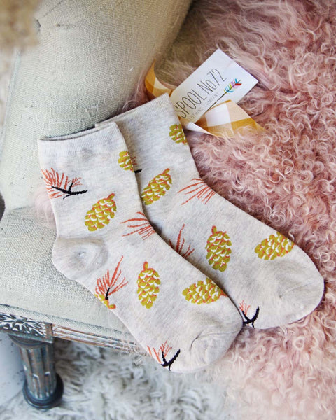 Cozy Pinecone Socks: Featured Product Image
