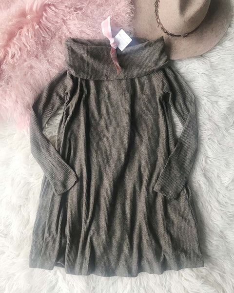 Cozy Thermal Dress in Brown: Featured Product Image