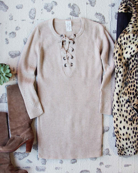Creme Brulee Sweater Dress: Featured Product Image