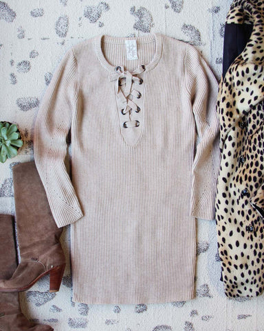 Creme Brulee Sweater Dress