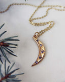 Crescent Moon Necklace: Alternate View #2