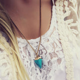 New Moon Turquoise Necklace: Alternate View #2