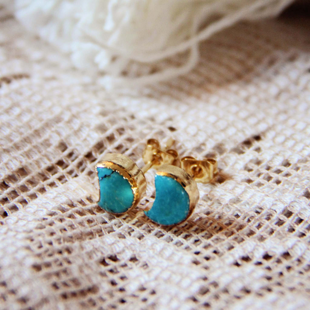 bloomingoak design product small post earrings turquoise bb