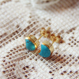Crescent Turquoise Earrings: Alternate View #2