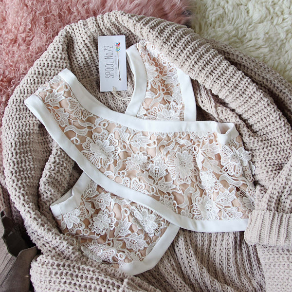 Cross Your Heart Lace Bralette: Featured Product Image