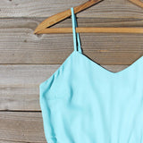 Crystal Wishes Romper in Turquoise: Alternate View #2